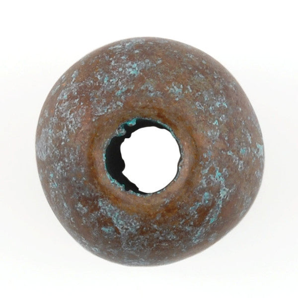 Ceramic Beads-16mm Round-Green Patina-Quantity 1