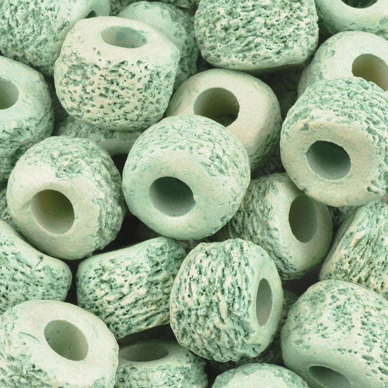 Ceramic Beads-17mm Coarse Tube-Celadon