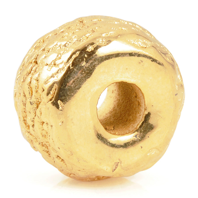 Ceramic Beads-17mm Coarse Tube-Gold