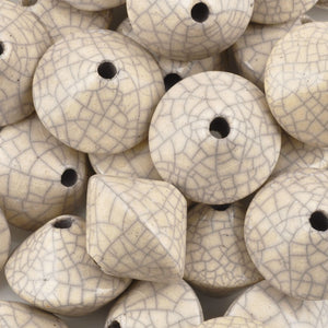 Ceramic Beads-23mm Top-Antique Dove