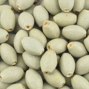 Ceramic Beads-18x9mm Oval-Green Tea Matte