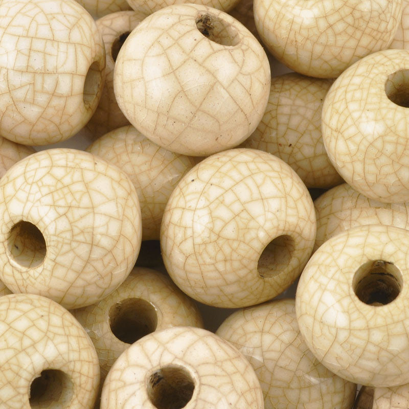 Ceramic Beads-20mm Round-Antique Ochre