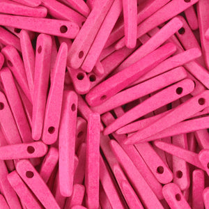 Ceramic Beads-31mm Dagger-Fuchsia Rose-Quantity 10