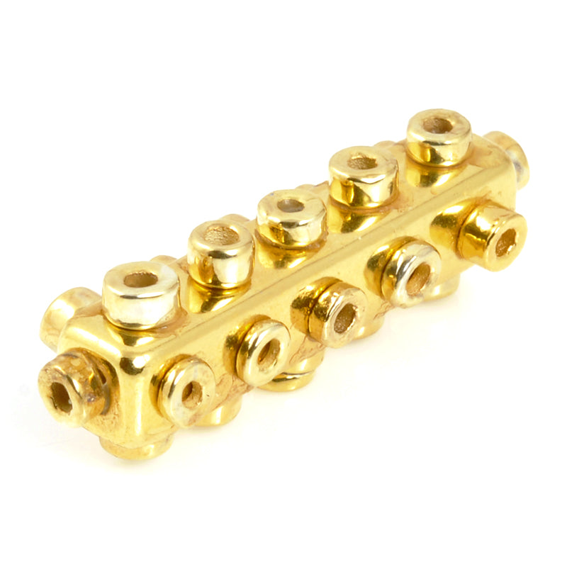 Ceramic Beads-Avante Garde Picasso-35x10mm Rectangle Tube-Gold-Quantity 1