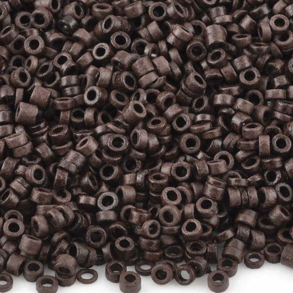 Ceramic Beads-3mm Tube-Burnt Umber