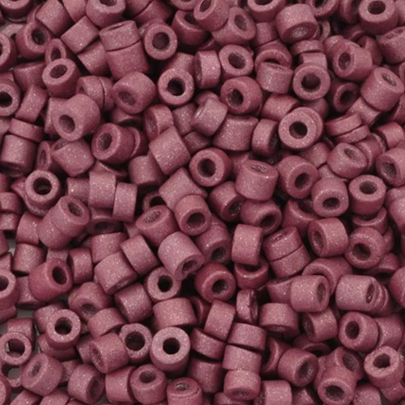 Ceramic Beads-3mm Tube-Mauve-5 Grams