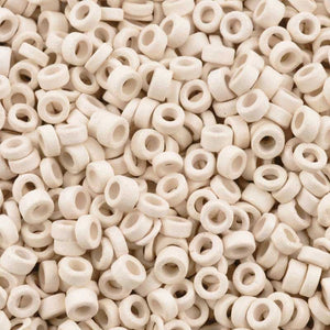 Ceramic Beads-3mm Tube-White