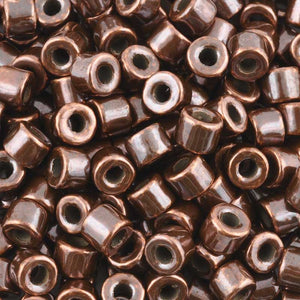 Ceramic Beads-6x8mm Tube-Antique Copper
