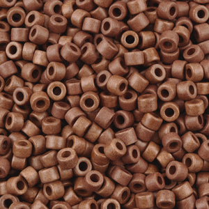 Ceramic Beads-4x6mm Tube-Burnt Sienna