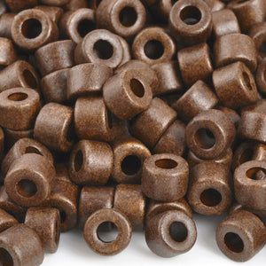 Ceramic Beads-4x6mm Tube-Chocolate