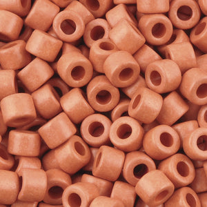 Ceramic Beads-4x6mm Tube-Coral Pink