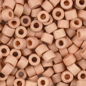 Ceramic Beads-4x6mm Tube-Pale Pink-Quantity 50