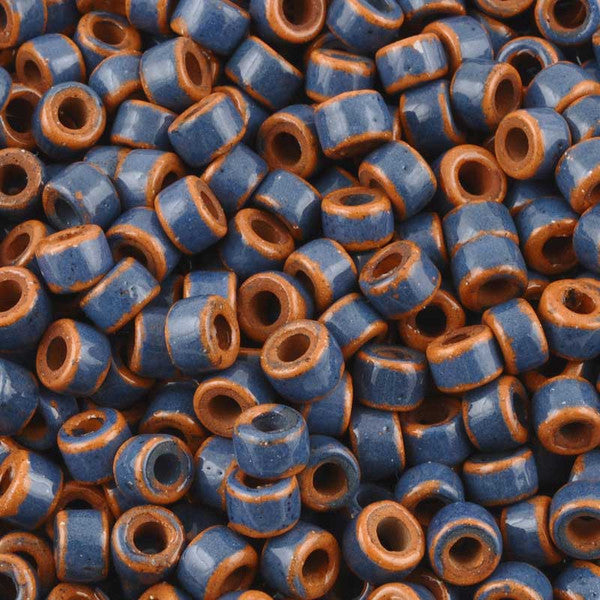 Ceramic Beads-4x6mm Tube-Pueblo Dark