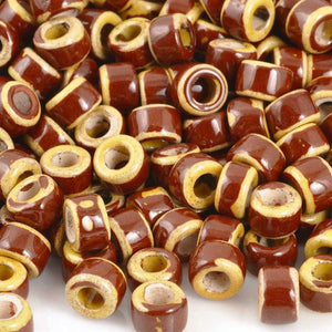 Ceramic Beads-4x6mm Tube-Rookwood