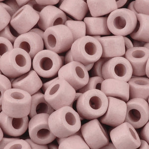 Ceramic Beads-4x6mm Tube-Rose Water