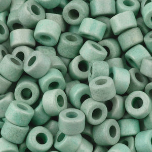 Ceramic Beads-4x6mm Tube-Sage Green