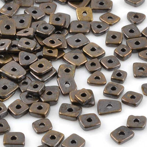 Ceramic Beads-5mm Abstract-Antique Bronze