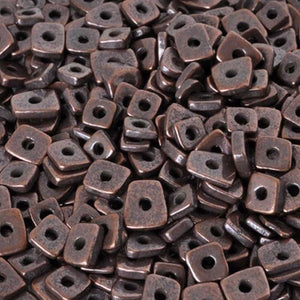 Ceramic Beads-5mm Abstract-Antique Copper-Quantity 10