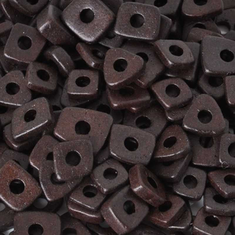 Ceramic Beads-5mm Abstract-Burnt Umber-Quantity 5 Grams