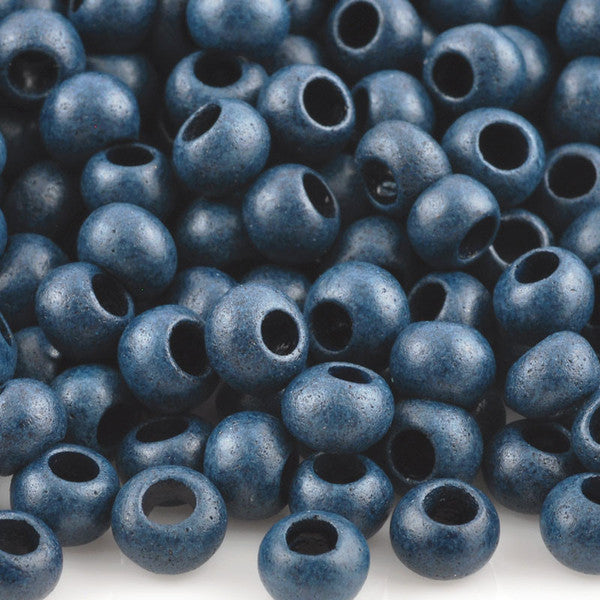 Ceramic Beads-5mm Round-Indigo