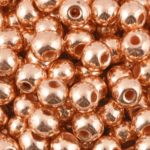 Ceramic Beads-6mm Round-Copper