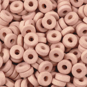 Ceramic Beads-6mm Round Disc-Blush