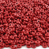 Ceramic Beads-6mm Round Disc-Red-Quantity 50