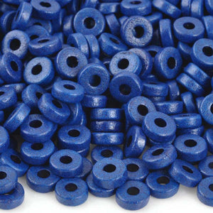 Ceramic Beads-6mm Round Disc-Ultramarine