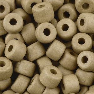 Ceramic Beads-6x8mm Tube-Ecru