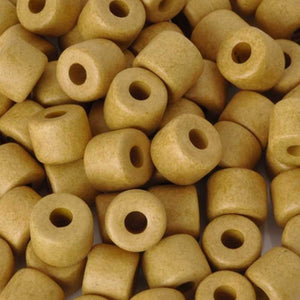Ceramic Beads-6x8mm Tube-Damask Ochre