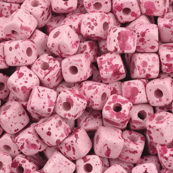 Ceramic Beads-7mm Cube-Bebe Smile