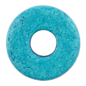 Ceramic Beads-8mm Round Disc-Azure-Quantity 50