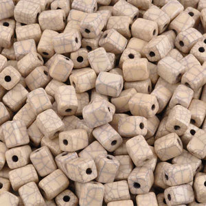 Ceramic Beads-8x10mm Rectangle Tube-Antique Dust-Quantity 10