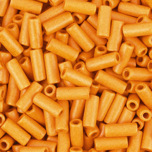 Ceramic Beads-8x4mm Tube-Orange