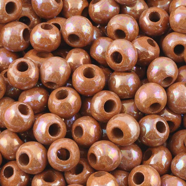 Ceramic Beads-9mm Round-Dusty Mauve