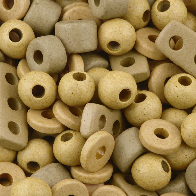 Ceramic Beads-Mix-Ecru
