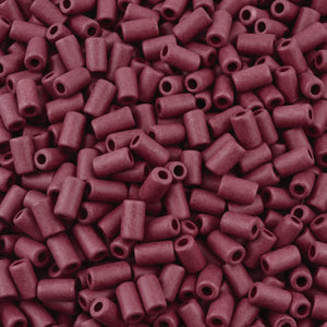 Ceramic Beads-10x5.8mm Tube-Bordeaux