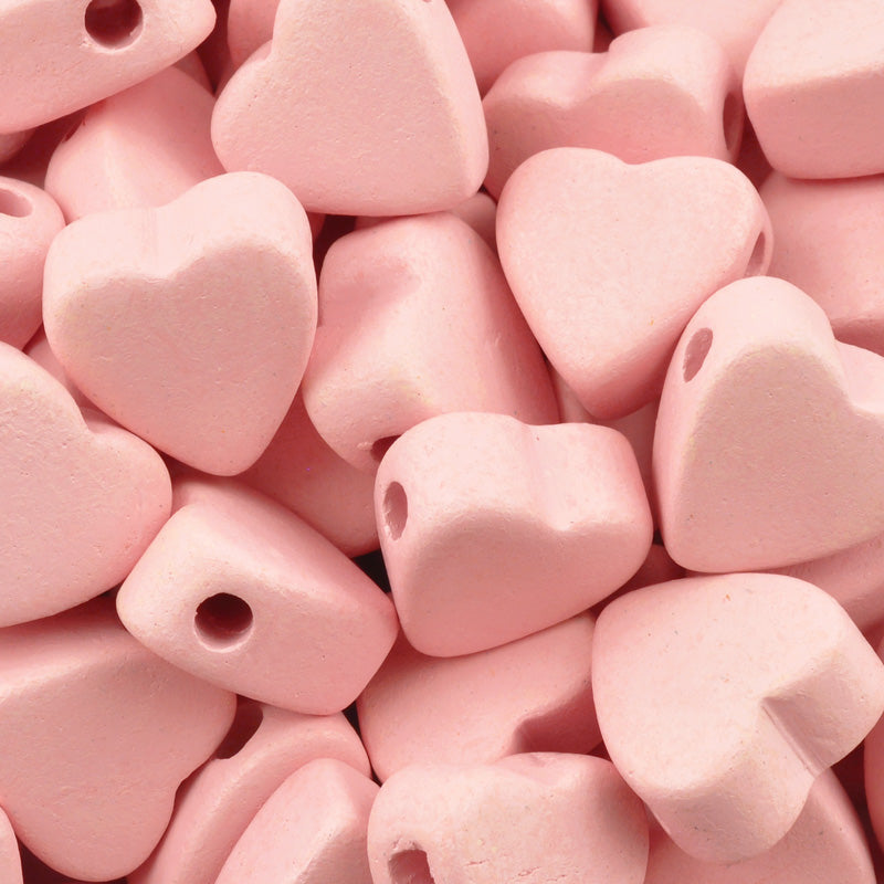 Ceramic Beads Wholesale-15x14.7mm Heart-Rose Water-Quantity 25