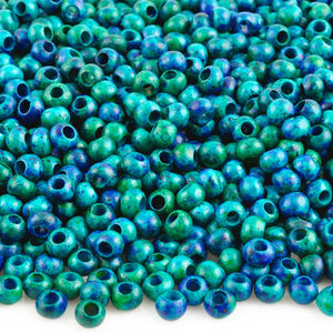 Ceramic Beads-5mm Round-Teal Blue