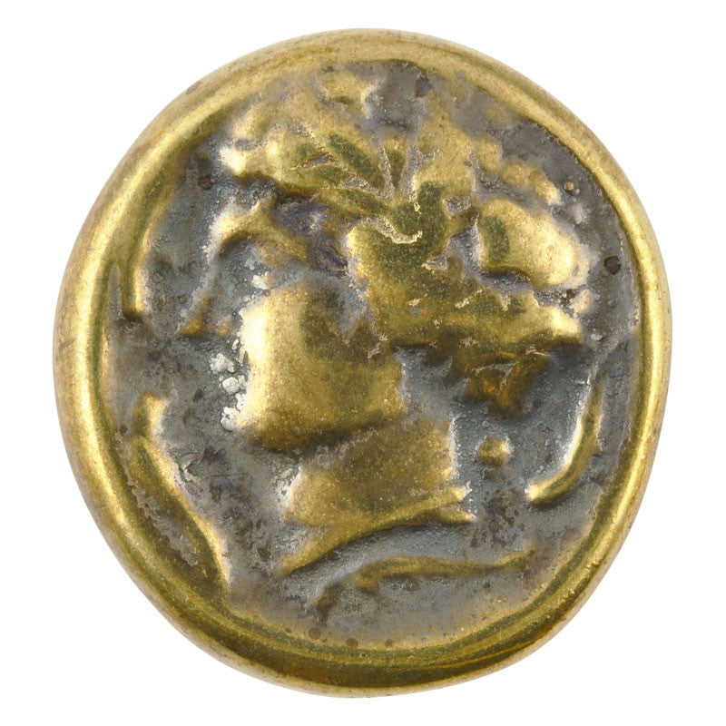 Ceramic Cabochon-34mm Cameo-Antique Bronze