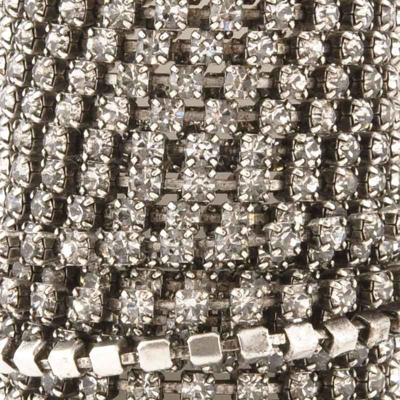 Chain-Rhinestone Chain-Antique Silver