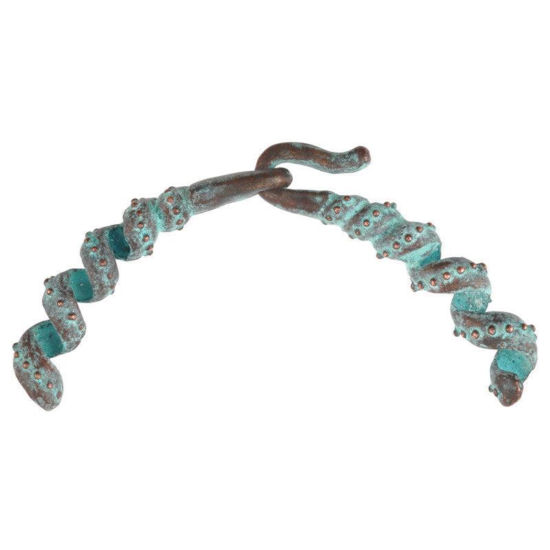 Clasp-10x37mm Ornate Connector Hook & Eye-Green Patina