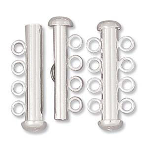Clasp-26mm Four Ring Tube-Multi Strand-Sterling Silver