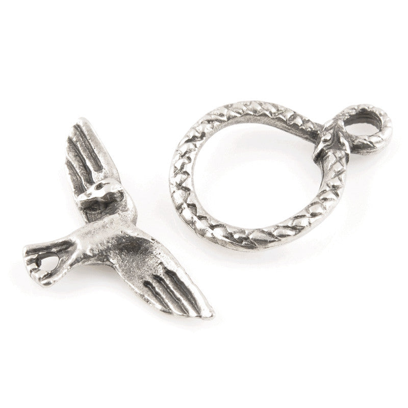 Clasp-Casting-11x25mm Bird Toggle-Antique Silver