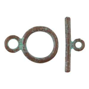 Clasp-Casting-15x23mm Toggle-Green Patina