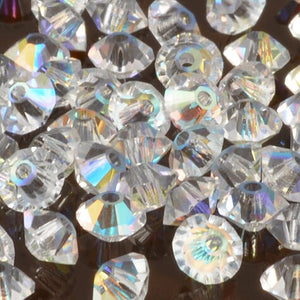 Crystal Beads-5mm Preciosa Roundelle Spacer-Crystal AB
