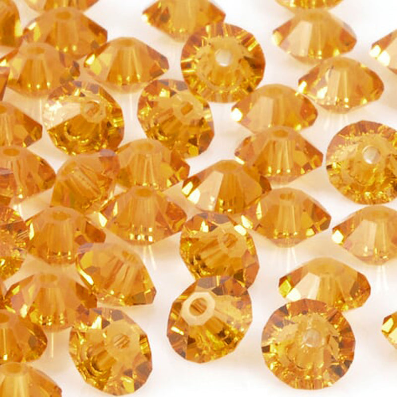 Crystal-5mm Swarovski Roundelle Spacer-5305-Gold Topaz