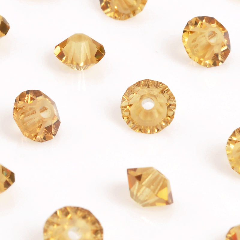 Crystal Beads-5mm Preciosa Roundelle Spacer-Light Colorado Topaz 3X-Quantity 12