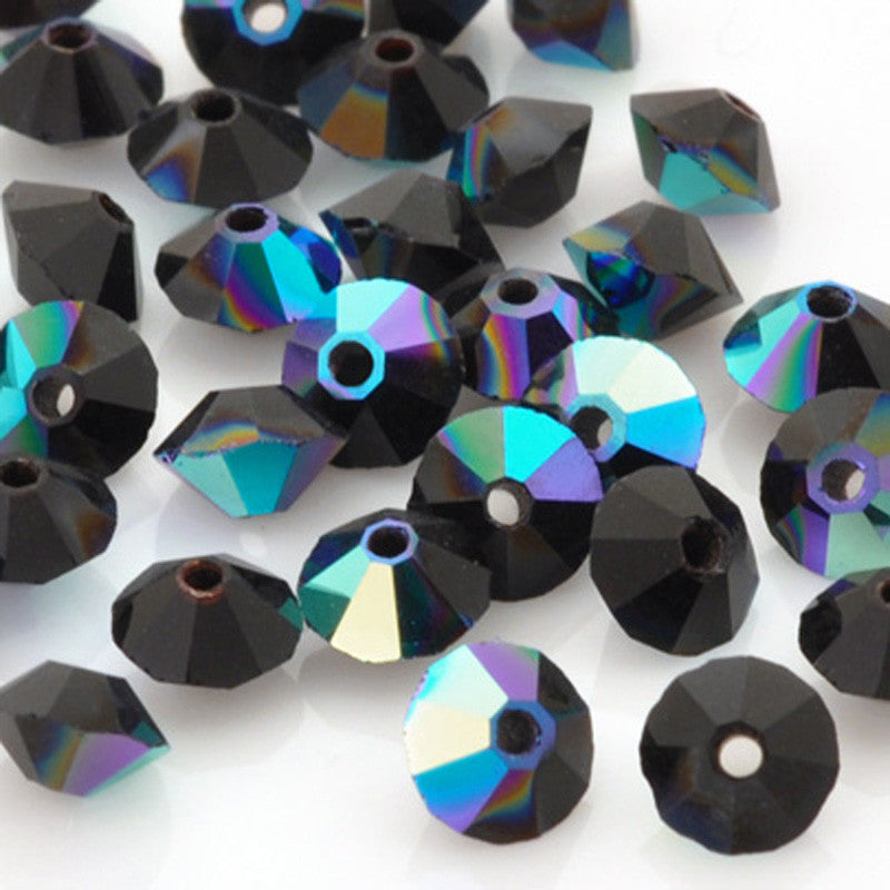 Crystal Beads-5mm Preciosa Roundelle Spacer-Jet AB