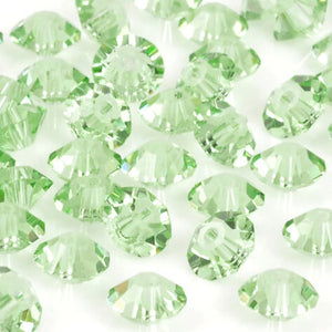 Crystal-5mm Swarovski Roundelle Spacer-5305-Peridot